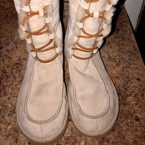 UGG Boots | Cream | Tall Boots | Suede/Shearling 8